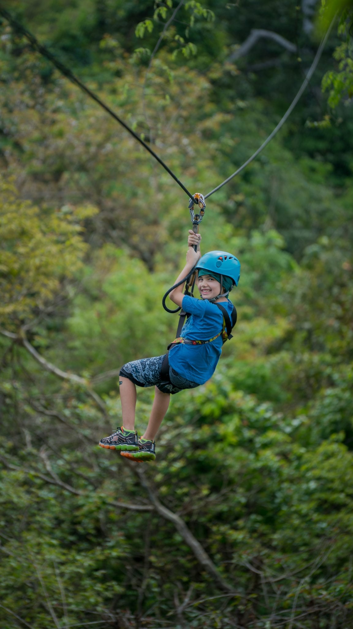 Kid On The Zipline