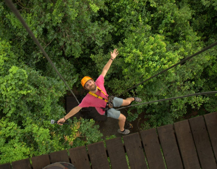 Steep Abseil Descent At Angkor Zipline