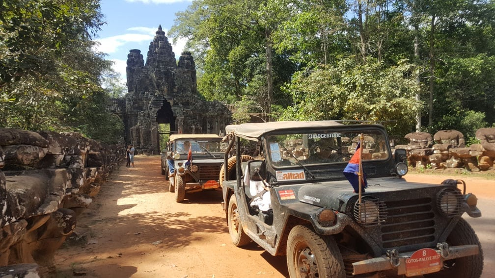 Custom Zipline And Guided Angkor Temples Vintage Jeep Tour